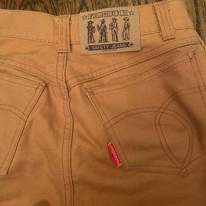 Fiorucci vintage brown safety jeans